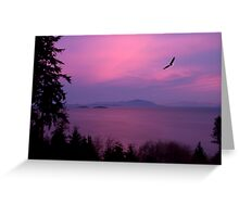 Sunrise Over the Strait Greeting Card