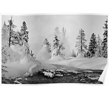 Yellowstone in Winter Poster