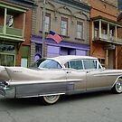 1958 Cadillac on Main Street in downtown Shawnee, Ohio.  by Chad Wilkins