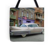 1958 Cadillac on Main Street in downtown Shawnee, Ohio.  Tote Bag