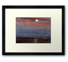 A boat in the moon Framed Print
