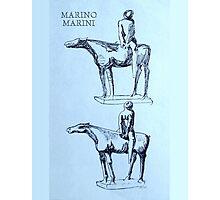 Marino Marini Horseman Photographic Print