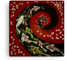 Koi Fish Swirl. Canvas Print