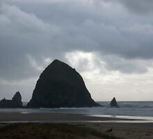Haystack Rock, Cannon Beach Oregon by Sandra Pearson