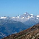 View from top of Gornergrat  Zermatt Switzerland by Monica Engeler