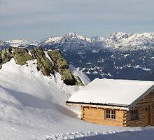 Log Cabin in Austrian Alps by Chelsea Herzberg