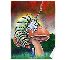 Smoking Caterpillar Poster