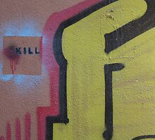 spray painted killing by fabio piretti