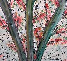 Large Flame Tree by Julie  Sutherland