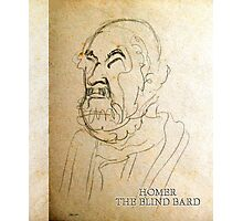 Homer, The Blind Bard Photographic Print