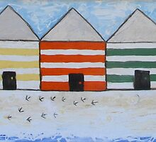 Beach Shack and Bird Prints  by Julie  Sutherland