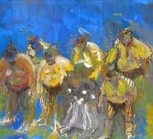 Sumo Wrestlers Bowing by Tomoe Nakamura
