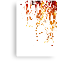 Paint Splashes Canvas Print