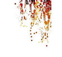 Paint Splashes Photographic Print