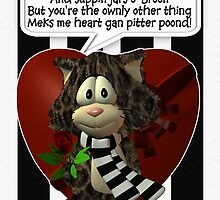 Geordie Newcastle Valentine's Day Card by Moonlake