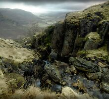 Little Langdale from Honister Pass, December 2009 by Andrew Gilbert