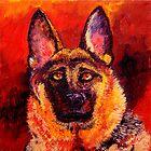 German Shepherd by sesillie