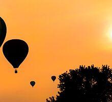 Sunset Ballons by Nathan Allen
