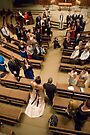 Church wedding shot from above  by Stephen Colquitt