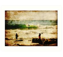 Early Morning Surf Session Art Print