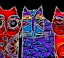 Fabric Kats in Fractalius by laxwings