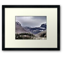 Mountains in the Mist Framed Print
