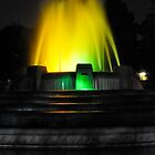Mulholland Fountain at Night by Clayton Bruster