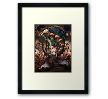 Gaia And Her Broken Hearts Recycling Machine  Framed Print