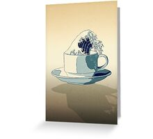 Storm in a Teacup - Tsea-nami! Greeting Card
