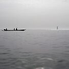 Pirogue at sea by kevomanno
