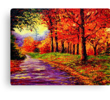Connecticut Evening Maples Canvas Print