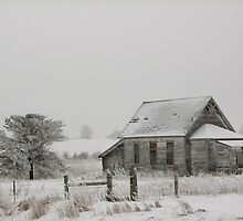 Frosted Old Schoolhouse by Linda Busby