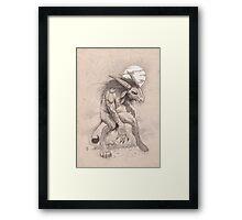 Horned Nicker Framed Print