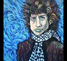 Portrait of Bob Dylan in Van Gogh Style by Jeremy Dattilo