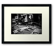 New York Times Square Black and White Framed Print