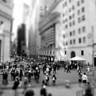 New York Wall Street &amp; Stock Exchange Black and White by Gerald Holubowicz