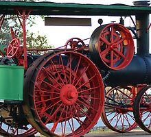 The OLD STEAM Tractor by Ruth Lambert