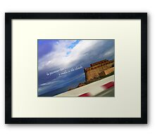 he promises her a castle in the clouds Framed Print