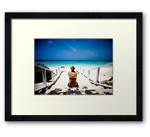 steps with a view Framed Print