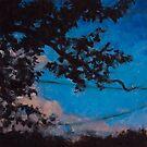 Cherry Tree silhouette by AheadForDinci