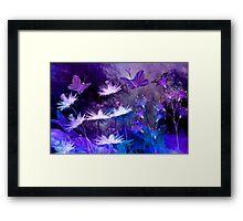 Midnight in the enchanted garden Framed Print