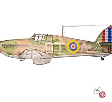 Hawker Hurricane Mk 1a 1940 by Jack Froelich