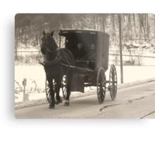 Amish near Breman Ohio in Fairfield County Metal Print