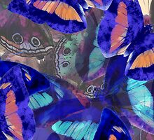 Abstracted Butterflies in Fauvist Colors #10 by Ivana Redwine
