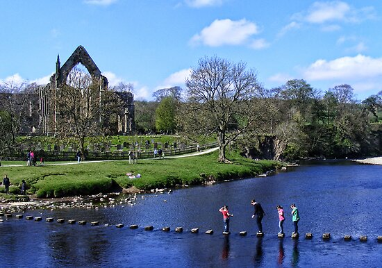 Stepping Stones and Bolton Abbey by Ray Clarke