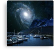 Galaxies Edge Harbour Canvas Print