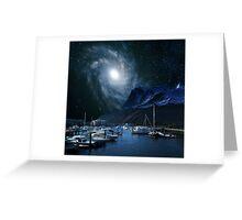 Galaxies Edge Harbour Greeting Card