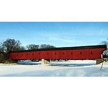 Winter At  The Kissing Bridge - West Montrose, Ontario Photographic Print