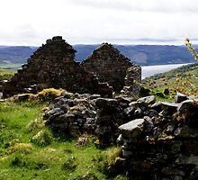 Scottish Highlands, Abriachan, ruins above Loch Ness by BronReid