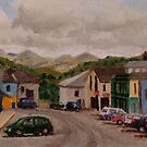 Cityscape Painting - Clifden Ireland - 5 x 7 Oil by Daniel Fishback